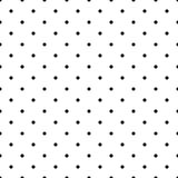 Black and White Polka Dots Seamless Pattern stock image