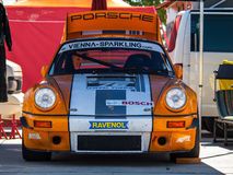 Classic Porsche 911 race car. Photographed during Histocup event at Slovakia Ring on August 3, 2013 Stock Photography