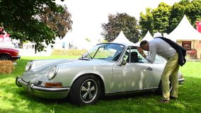 Classic Porsche 911 sports car stock video footage