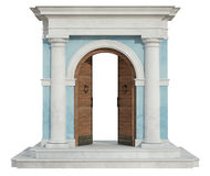 Classic portal with open door Royalty Free Stock Photography