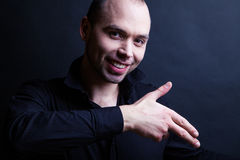 Classic portrait of a nice young man. With warm expression Royalty Free Stock Images