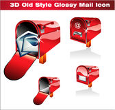 Classic Post Icon. Old Style Red Classic Post Icon Royalty Free Stock Images