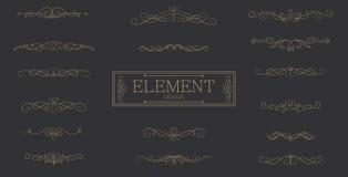 Classic premium bar element vintage vector design Stock Photography