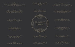 Classic premium bar element vintage vector design. Stock Photography
