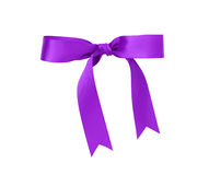 Classic purple ribbon bow Royalty Free Stock Image