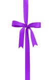 Classic purple ribbon bow for packaging gifts Stock Image