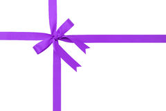Classic purple ribbon bow for packaging gifts Stock Images