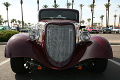 Classic purple street rod at show. In Arizona Royalty Free Stock Image
