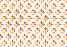 Classic Purple and Yellow Flower Pattern on Pastel Royalty Free Stock Images