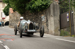 Classic race car at Bergamo Historic Grand Prix 2015 Royalty Free Stock Image