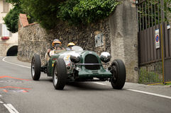 Classic race car at Bergamo Historic Grand Prix 2015 Stock Photo
