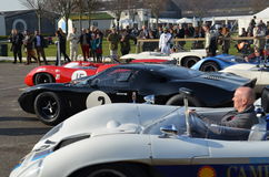 Classic race car's at the 72nd GRRC members meeting. Royalty Free Stock Image
