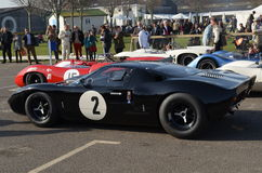 Classic race car's at the 72nd GRRC members meeting. Stock Photo