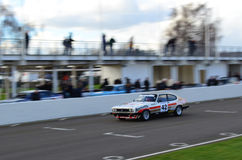 Classic race car's at the 74th members meeting practice day at Goodwood motor circuit. Royalty Free Stock Photography