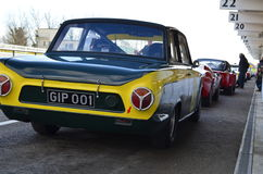 Classic race car's at the 74th members meeting practice day at Goodwood motor circuit. Stock Photos