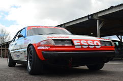 Classic race car at the 74th members meeting practice day at Goodwood motor circuit. Royalty Free Stock Image