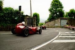 Classic race cars at Bergamo Historic Grand Prix 2015 Royalty Free Stock Image