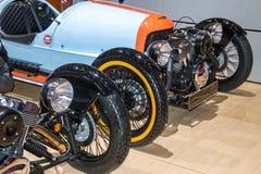 Classic race cars in Geneva Motor Show Royalty Free Stock Photo