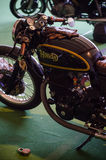 Classic racing bike. An old school motorcycle from an exposition Stock Images