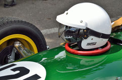 Classic racing car with a helm Royalty Free Stock Photography