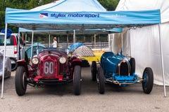 Classic racing cars Stock Photos