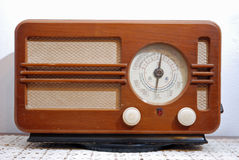 Classic radio. View of an old classic radio stock photo