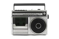 Classic radio. Old vintage Radio isolated on white background stock image
