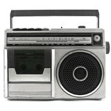 Classic radio. Old vintage Radio isolated on white background royalty free stock photos