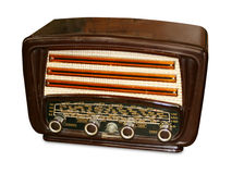 Classic Radio. A classic french radio from the fifties. Isolated on a white background Stock Image