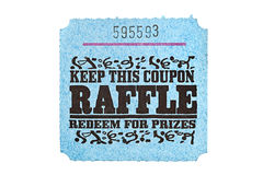Classic raffle ticket Royalty Free Stock Photo