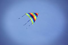 Classic rainbow kite Royalty Free Stock Images