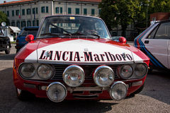 Classic rally car stock photo