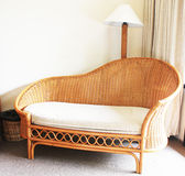 The Classic Rattan Chair. The traditional and classic rattan chair in living room Stock Image