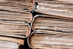 Classic reading vintage aged books stack detail Royalty Free Stock Photo