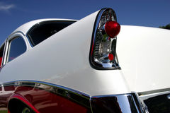 Classic Rear View. The back end of a shiny, retro, modified classic car stock photo