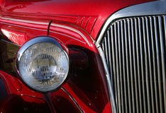 Classic in Red. Front of Classic Car Stock Image