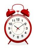 Classic red alarm clock Stock Images