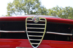 Classic Red alfa romeo sports car front Royalty Free Stock Photo