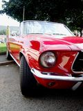 Classic red American cabriolet, Ford Mustang Royalty Free Stock Photos