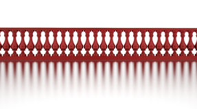 Classic red banister with reflection Stock Images
