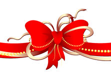 Classic red bow Stock Photography