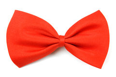 Classic red bowtie. Isolated on white background Stock Image