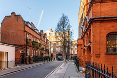 Classic red brick building in Mayfair Royalty Free Stock Images