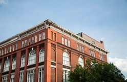 Classic Red Brick Under Blue Sky in Savannah Stock Photography