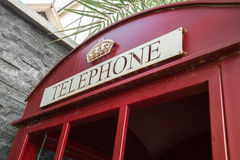Classic red British telephone box Royalty Free Stock Photos