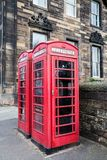 Classic red British telephone box in Edinburgh Stock Photos