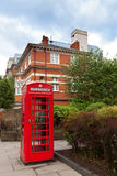 Classic red British telephone box Stock Images