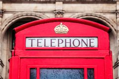 Classic red British telephone box in London Stock Images