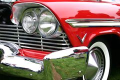 Classic red car royalty free stock photo