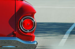 Classic Red Car. Taillight close-up of classic red car Stock Photography
